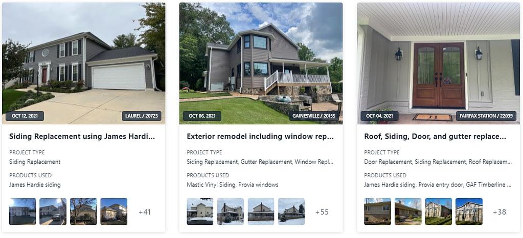 American Home Contractors most recent projects via companycam